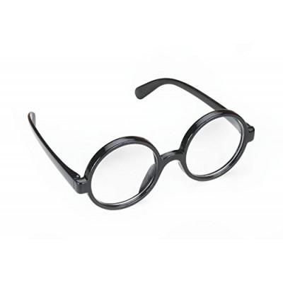 Quality Wizard Black Round Frame Glasses (2in Lenses)
