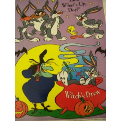 Looney Tunes Halloween Static Cling Window Cling ~ Witches Brew (2 Clings)