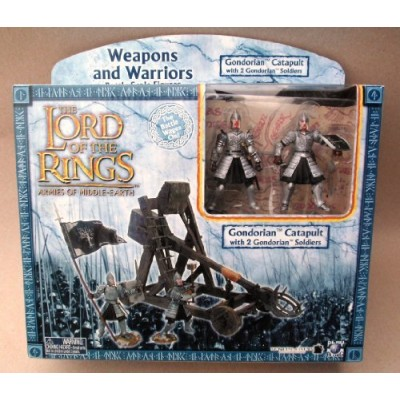 2003 - New Line / Play Along - Lord of the Rings : Armies of Middle Earth - Gondorian Catapult & 2 Gondorian Soldiers - Weapons & Warriors - Battle...