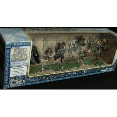 2003 - New Line / Play Along - Lord of the Rings : Armies of Middle-Earth - The Fellowship Collection - 9 Figure Set - Rare - Out of Production - L...
