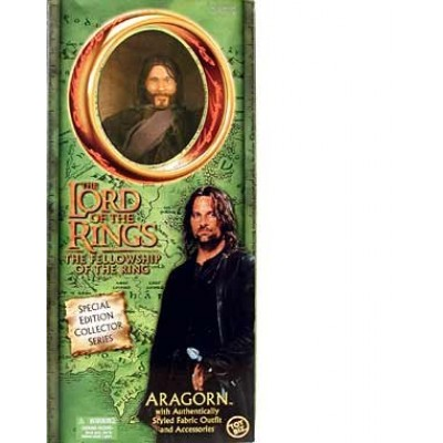 """Lord of the Rings The Fellowship of the Ring ARAGON 12"""" Action Figure (2002 Toy Biz)"""