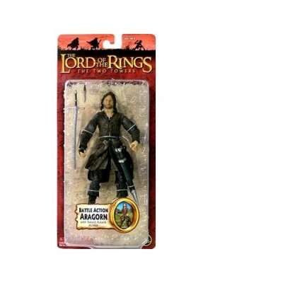 Lord Of The Rings The Two Towers Collectors Series Action Figure Battle Action Aragorn