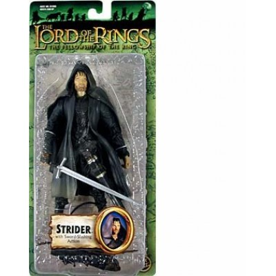 Lord of the Rings Trilogy Fellowship of the Ring Action Figure Series 1 Strider with SwordSlashing Action