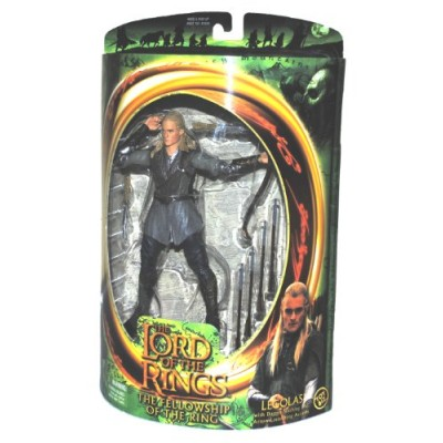 "The Lord of The Rings Year 2001 "" The Fellowship of The Ring"" Series 7 Inch Tall Action Figure - Legolas with Dagger-Slashing (2 Daggers) and Arrow..."