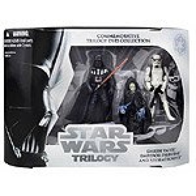 Star Wars Commemorative Trilogy DVD Collection Action Figure Set: Return of the Jedi (Darth Vader, Emperor Palpatine, Stormtrooper)