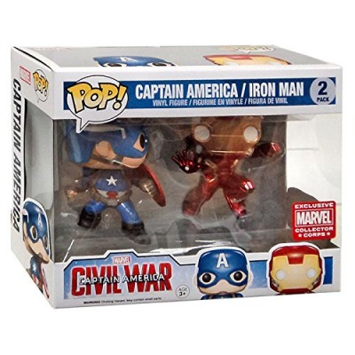 Funko Marvel Funko POP! Marvel Captain America & Iron Man Exclusive Vinyl Bobble Head 2-Pack