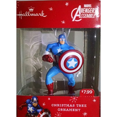 hallmark marvel avengers assemble thorhulkcaptain americairon man christmas ornaments