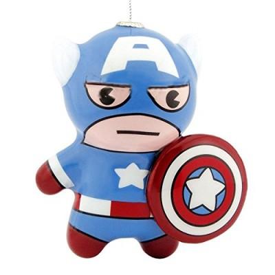 Hallmark Marvel Captain America Kawaii Art Collection Decoupage Christmas Ornament