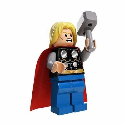 LEGO Super Heroes Marvel Comic Minifigure - Thor (No Beard) with Hammer (76018)