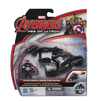 Marvel Avengers Age of Ultron Captain America and Marvel's War Machine 2.5 Inch Figures with Blast Cycle