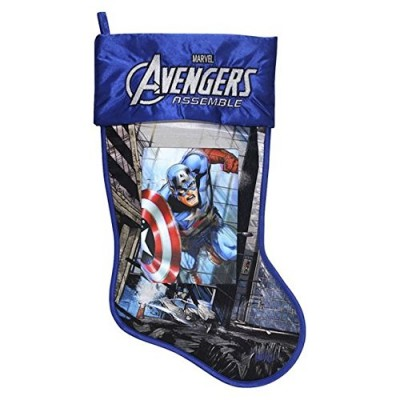 "Marvel Avengers Captain America 17.5"" Christmas Stocking With Lenticular Image"