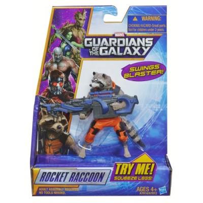 Marvel Guardians of The Galaxy Galactic Battlers Rocket Raccoon Figure