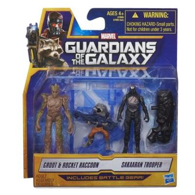 Marvel Guardians of The Galaxy Groot, Rocket Raccoon and Sakaaran Trooper Figure Pack