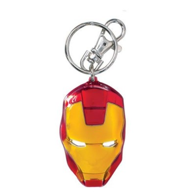 Marvel Iron Man Classic Face Color Pewter Keyring