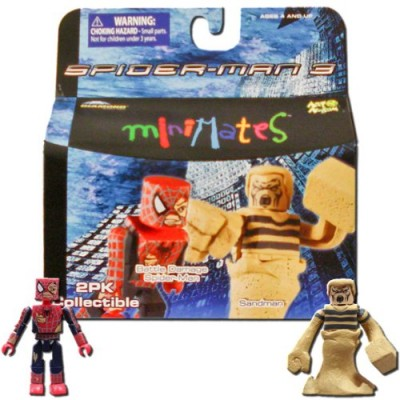 Marvel MiniMates Series 18 Spider-Man 3 Battle Damage Spider-Man and Sandman