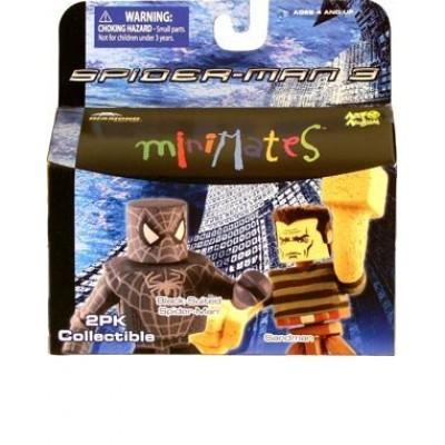 Minimates Spider Man 3 Black Suited Spider Man and Sandman