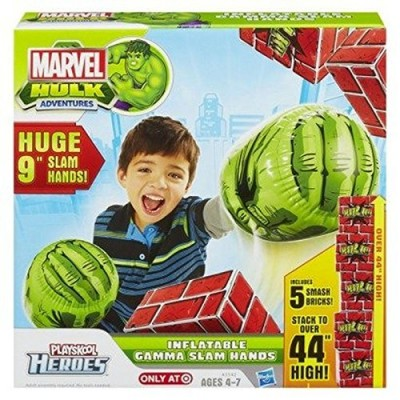 Playskool Heroes Marvel Hulk Adventures Inflatable Gamma Slam Hands