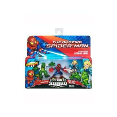 Super Hero Squad The Amazing Spider-Man Spider-Man - Gwen Stacy - The Lizard Action Figure 3-Pack