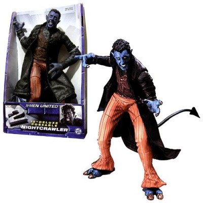 Toy Biz Year 2003 Marvel X-Men United X2 Movie Series 12 Inch Tall Deluxe Poseable Action Figure - NIGHTCRAWLER