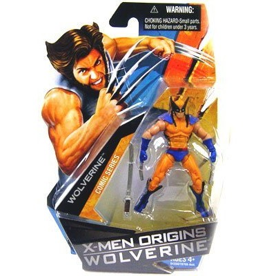 X-Men Origins Wolverine Action Figure Wolverine with Blue and Yellow Suit 84350