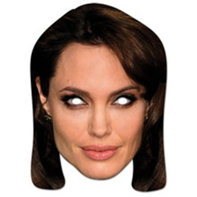 "High quality cardboard mask ""Angelina Jolie"""