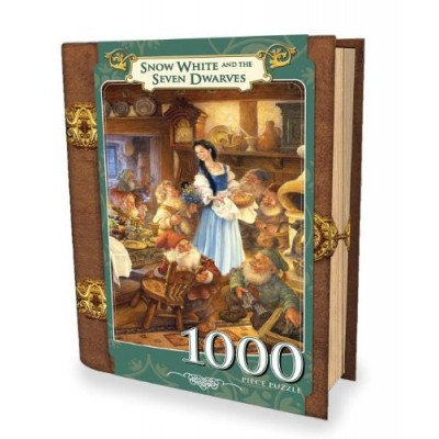MasterPieces Puzzle Company Snow White and the Seven Dwarfs Book Box Jigsaw Puzzle (1000-Piece), Art by Scott Gustafson