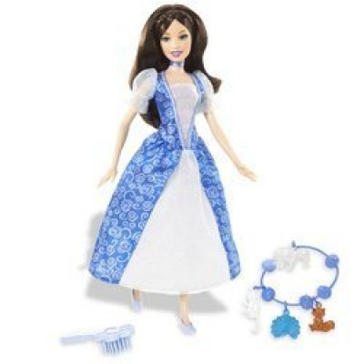 Barbie as The Island Princess Doll: Brunette with Blue Dress