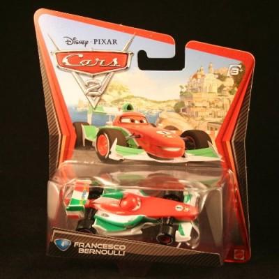 Disney Pixar Cars 2 Francesco Bernoulli #4 (Red, White & Green) by Mattel