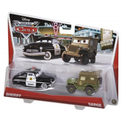 Disney/Pixar Cars Collector Die-Cast Sheriff and Sarge Vehicle, 2-Pack