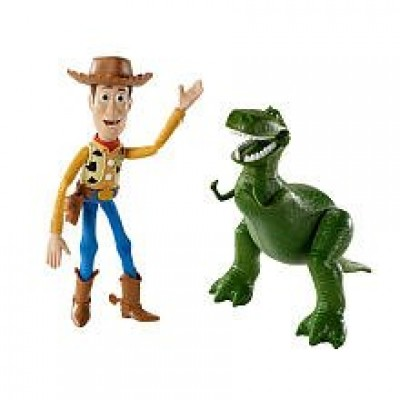 Disney / Pixar Toy Story 3 Exclusive Movie Moments 6 Inch Action Figure 2Pack Woody Rex