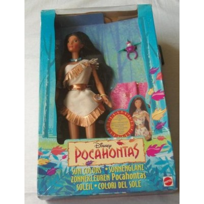 Disney Sun Colors Pocahontas Doll by Mattel