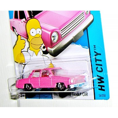 Hot Wheels, 2015 HW City, The Simpsons Family Car Die-Cast Vehicle, #56/250