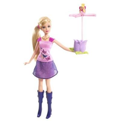 Mattel- P6314-0, Barbie With Flying Thumbelina