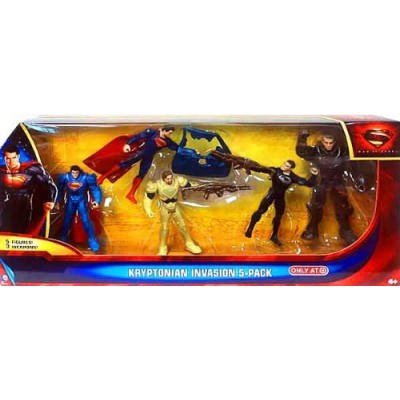 Superman Man of Steel Kryptonian Invasion Exclusive Action Figure 5-Pack (Mattel Toys)