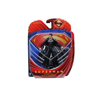 Superman Man of Steel Movie Masters Superman with Black Suit Action Figure