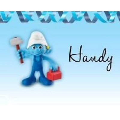 The Smurfs 2 Mcdonalds Happy Meal 2013 #3 Handy Doll Toy
