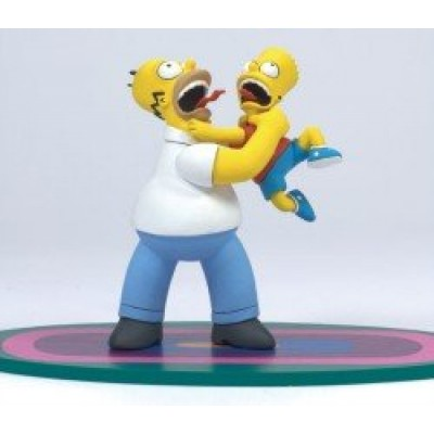 """Homer & Bart """"Why You...!!"""" McFarlane The Simpsons Series 1 Action Figure"""