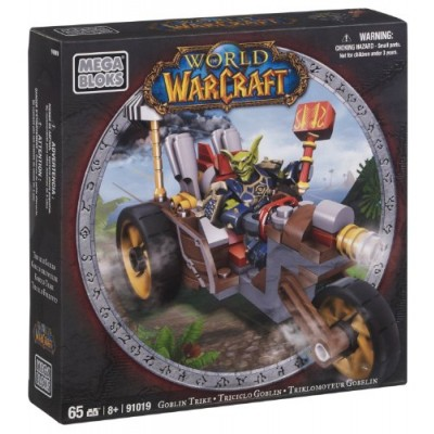 Mega Bloks World of Warcraft Goblin Trike and Pitz (Horde Goblin Warrior)