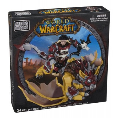 Mega Bloks World of Warcraft Swift Wyvern and Scarbuck (Horde Tauren Hunter)
