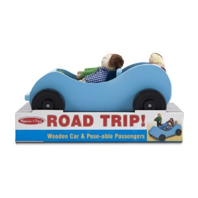 Melissa & Doug Road Trip! Wooden Car and Pose-Able Passengers Playset