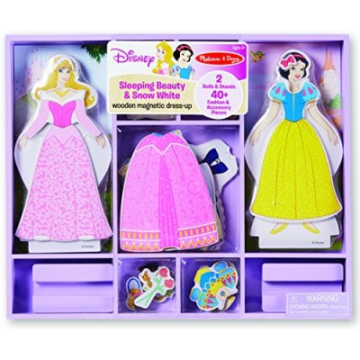 Sleeping Beauty and Snow White Wooden Magnetic Dress-Up Play Set