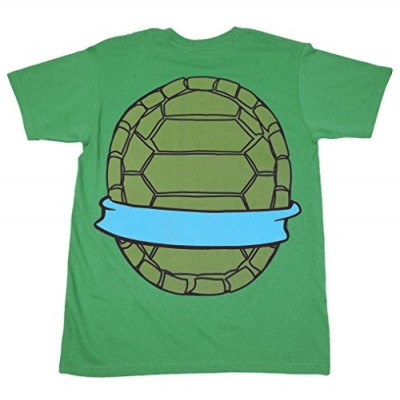 Mighty Fine TMNT Teenage Mutant Ninja Turtles Leonardo Costume Green Adult T-shirt Tee (XX-Large)
