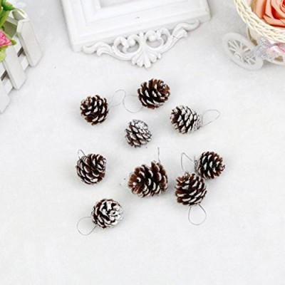 9pcs Christmas Pine Cones, Misaky Bauble Xmas Tree Party Hanging Decoration Ornament