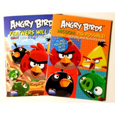 Angry Birds Giant Coloring and Activity Books (2 Book Set) - 96 Pages Each
