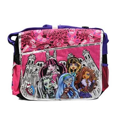 Black and Pink Classmates Monster High Messenger Laptop Bag