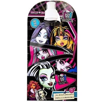 Monster High Collapsible Water Bottle 380ml Sans BPA Free