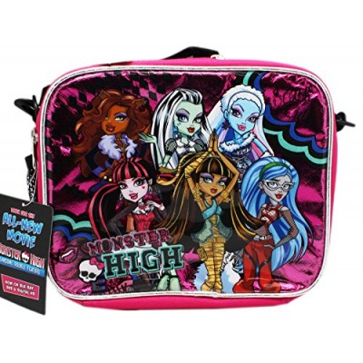 Pink and Black Monster High Varsity Team Lunch Bag