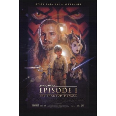 STAR WARS EPISODE I THE PHANTOM MENACE MOVIE POSTER 1 Sided ORIGINAL 27x40 WITH AUTHENTICITY WATERMARK