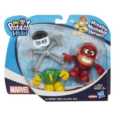 Playskool Mr. Potato Head Marvel Mixable Mashable Heroes as Spider-Man and Doc Ock, 2-Inch