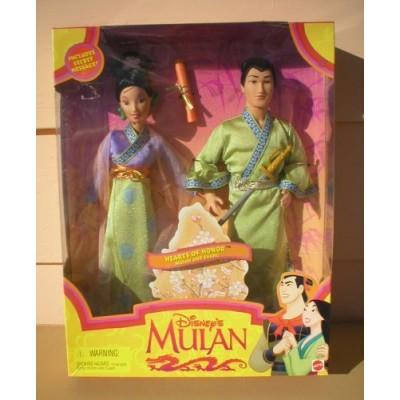 Disney MULAN & SHANG Hearts of Honor MOVIE Doll Set